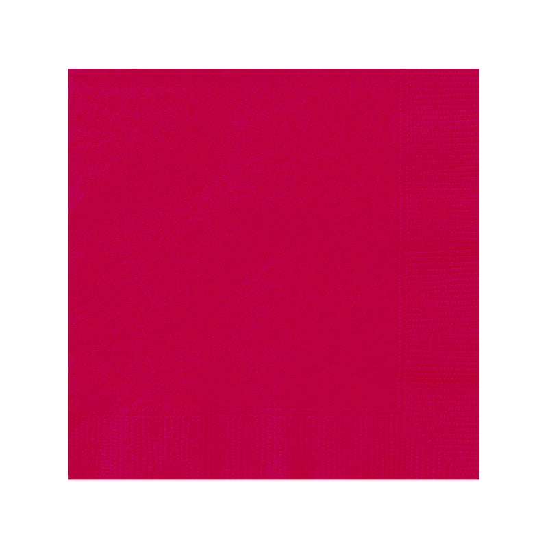 Solid Red Napkins  Napkins Hello Party - All you need to make your party perfect!  - Hello Party