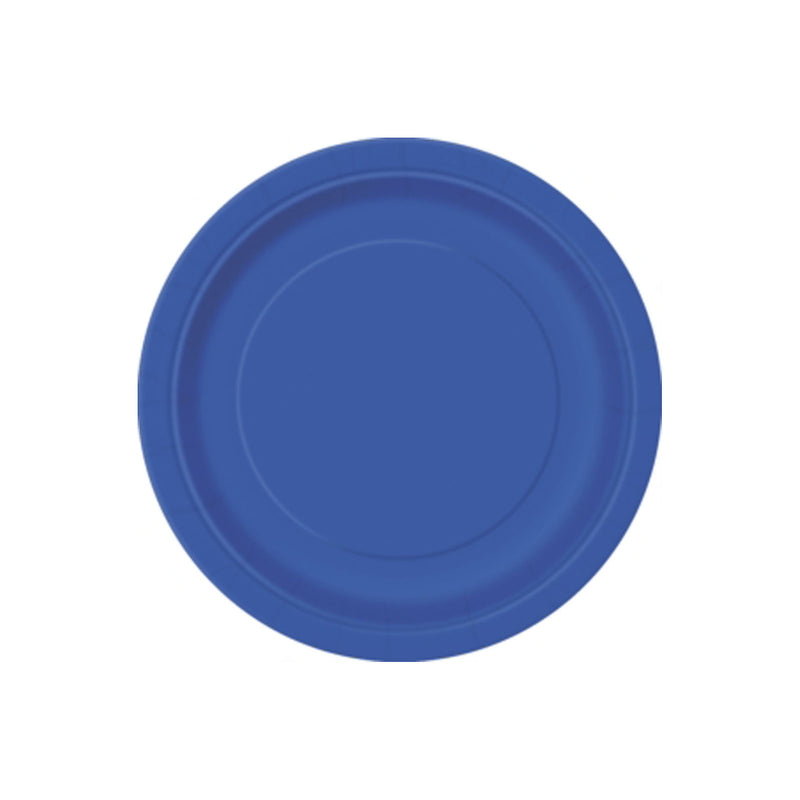 Small Royal Blue Round Paper Plates  Party Plates Hello Party - All you need to make your party perfect!  - Hello Party
