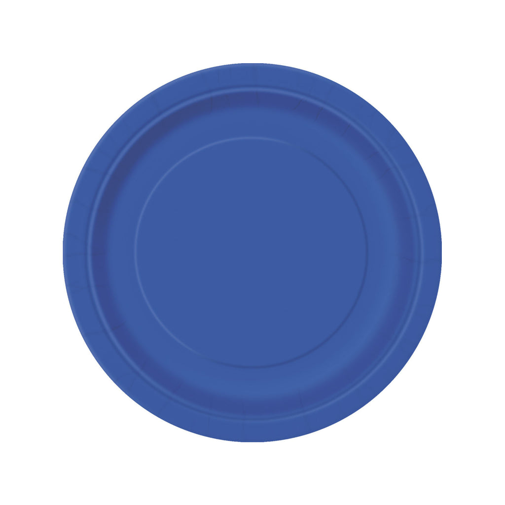 Royal Blue Round Paper Plates