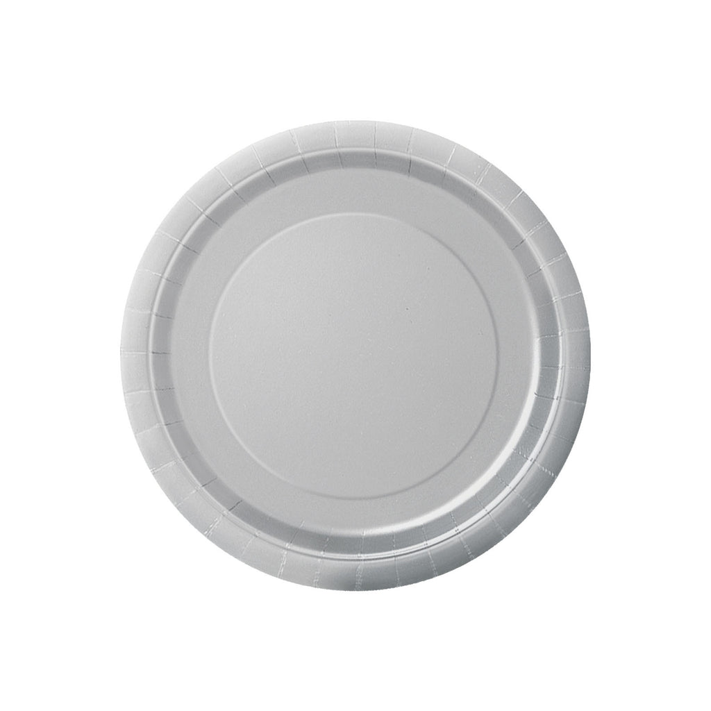 Small Silver Round Paper Plates