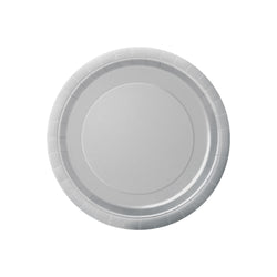 Small Silver Round Paper Plates  Party Plates Hello Party - All you need to make your party perfect!  - Hello Party