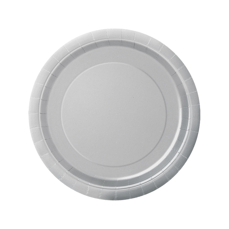 Silver Round Paper Plates  Party Plates Hello Party - All you need to make your party perfect!  - Hello Party