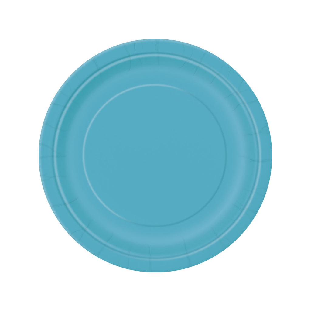 Teal Round Paper Plates