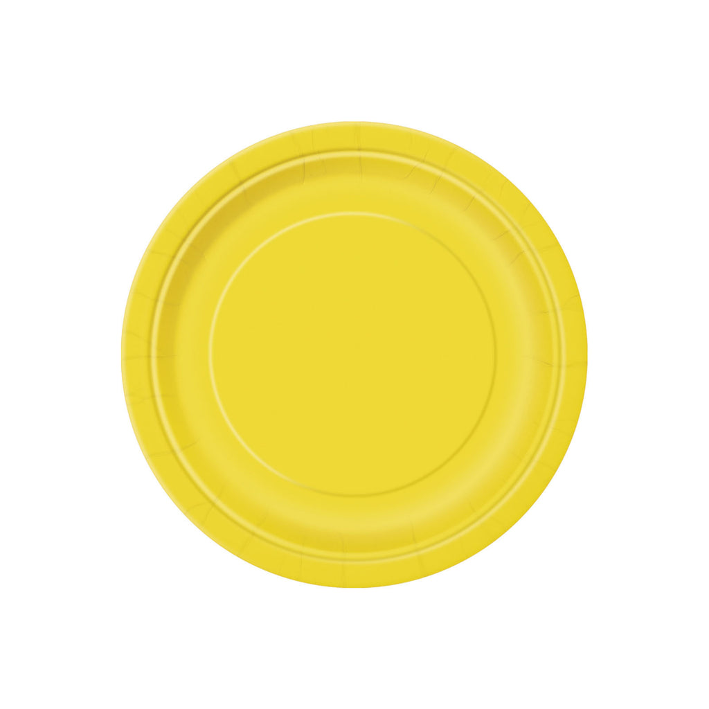 Small Yellow Round Paper Plates