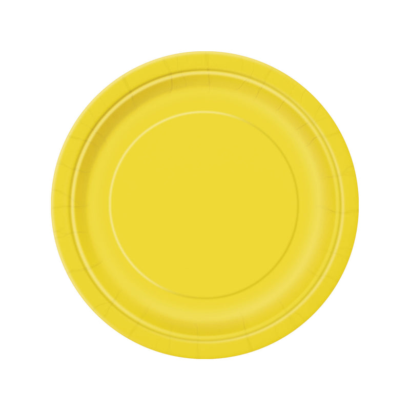 Yellow Round Paper Plates  Party Plates Hello Party - All you need to make your party perfect!  - Hello Party
