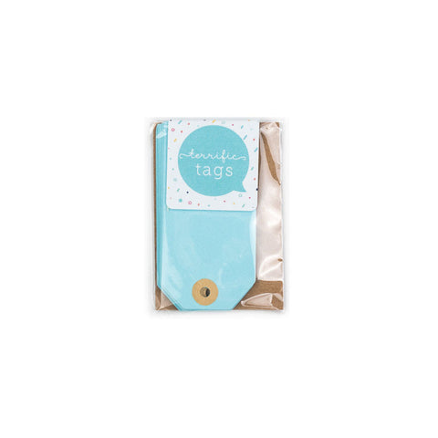 10 Terrific Mini Luggage Style Tags Pastel Blue