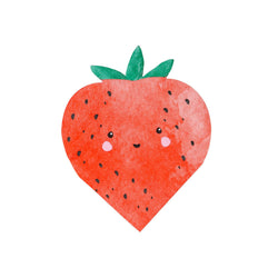 Sweet Strawberry Shaped Napkins Talking Tables - Hello Party