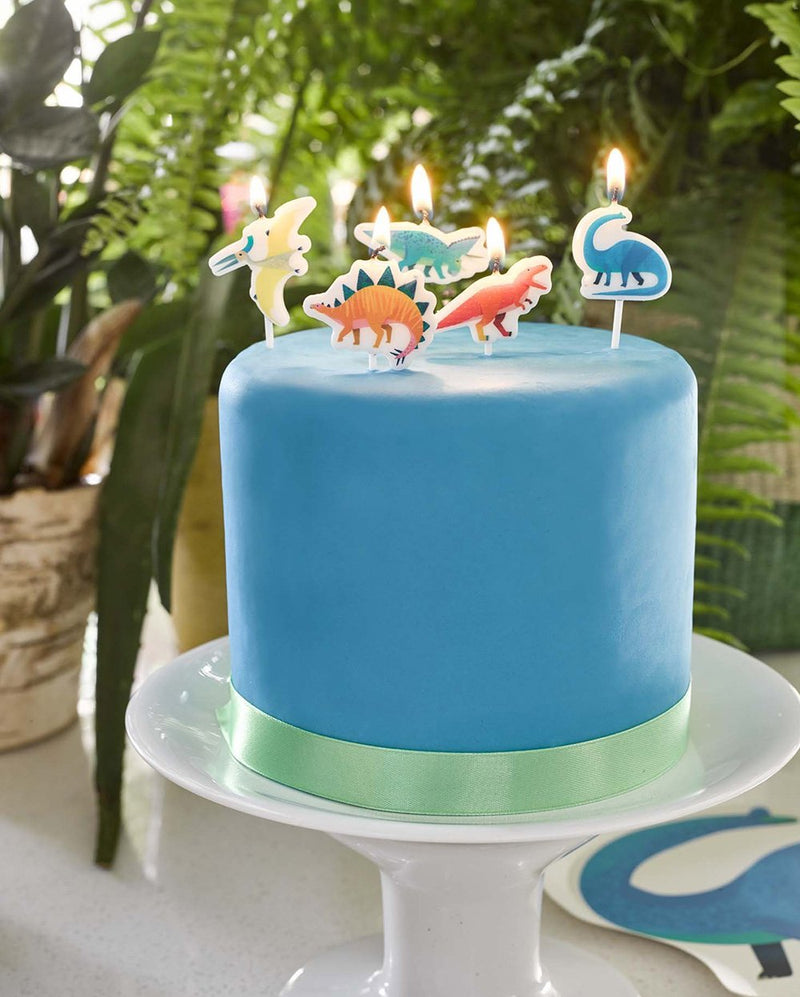 Party Dinosaurs Shaped Cake Candles