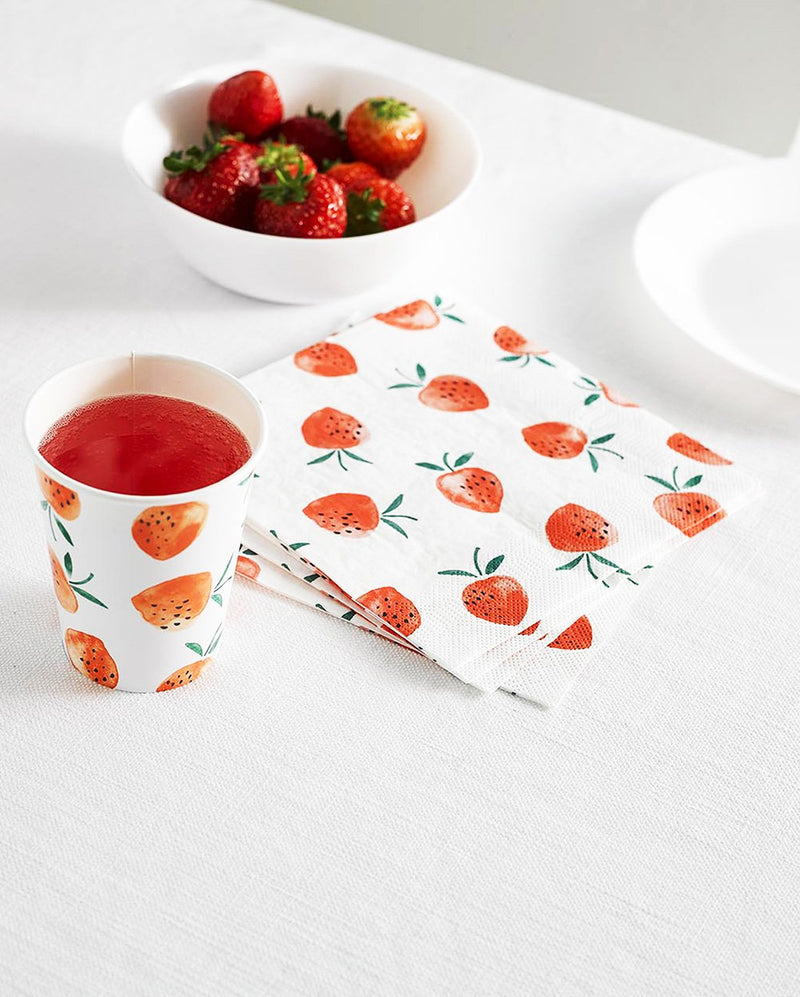 Sweet Strawberry Napkins Talking Tables - Hello Party
