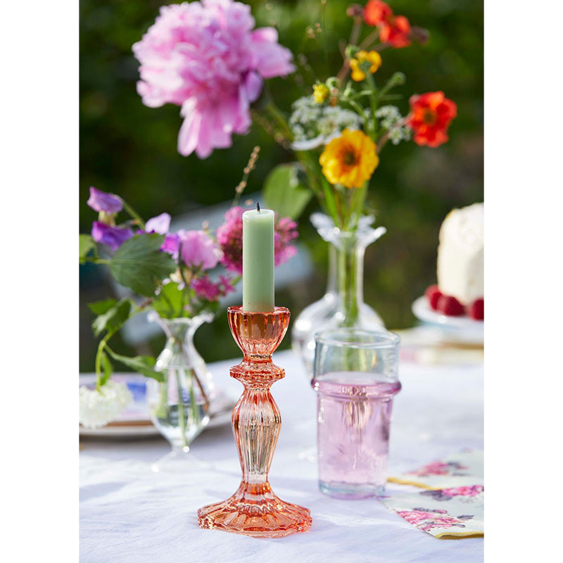 Pink Glass Candle Holder Talking Tables Hello Party Everyday
