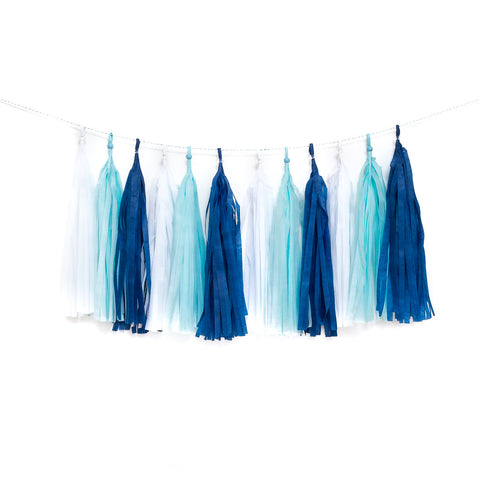 Brilliant Blues Tassel Garland