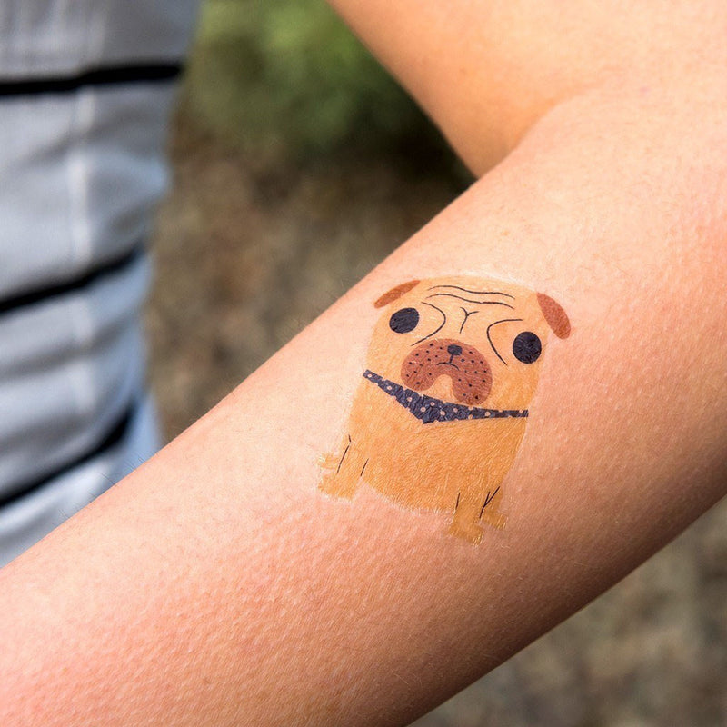 Pug and Sausage Dog Temporary Tattoos  Temporary Tattoos Hello Party - All you need to make your party perfect!  - Hello Party
