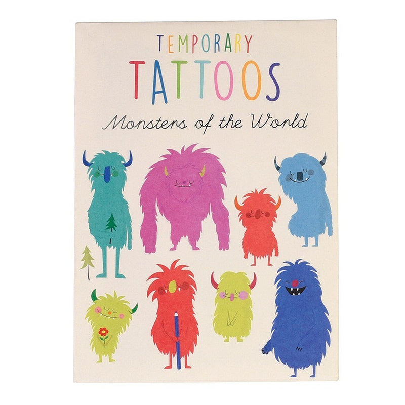 Monsters Of The World Temporary Tattoos  Temporary Tattoos Hello Party - All you need to make your party perfect!  - Hello Party