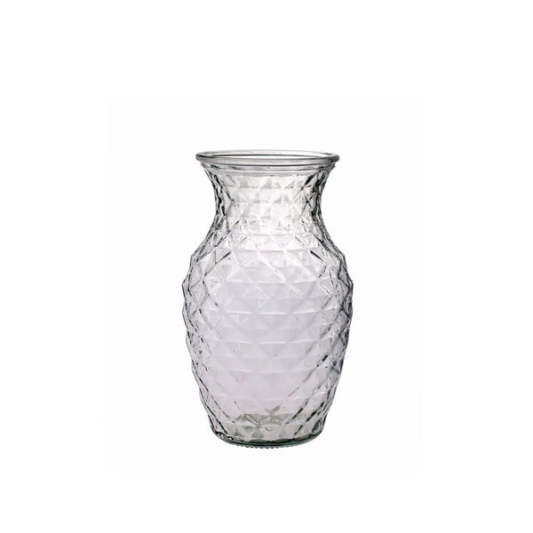 Textured Glass Sweetheart Vase