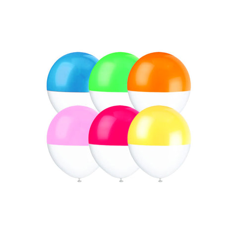 Rainbow Colour Dipped Balloons