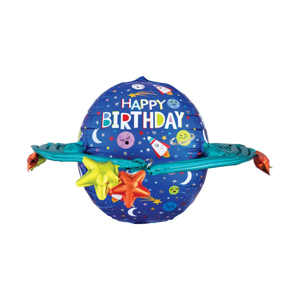 Happy Birthday Galaxy Ultrashape Balloon  Balloons Anagram - Hello Party