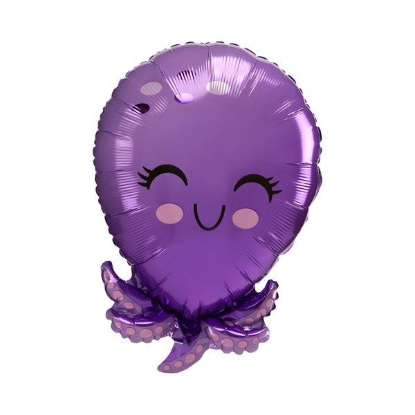 Happy Octopus Foil Balloon Under the sea mermaid party