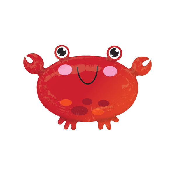 Cheerful Crab Foil Balloon