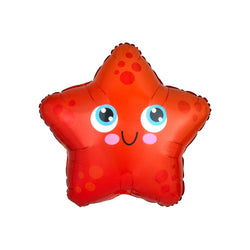 Happy Starfish Foil Balloon Under the Sea Mermaid Theme Party