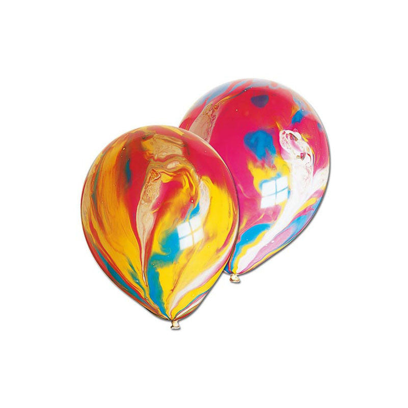 Multi Coloured Marble Balloons