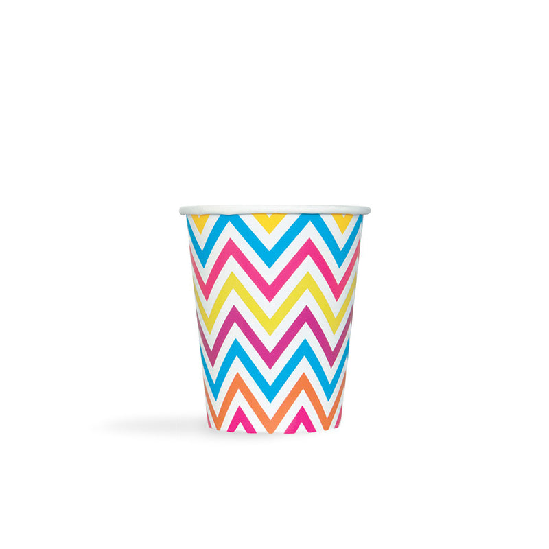 Rainbow Chevron Paper Cups  Party Cups Hello Party - All you need to make your party perfect!  - Hello Party