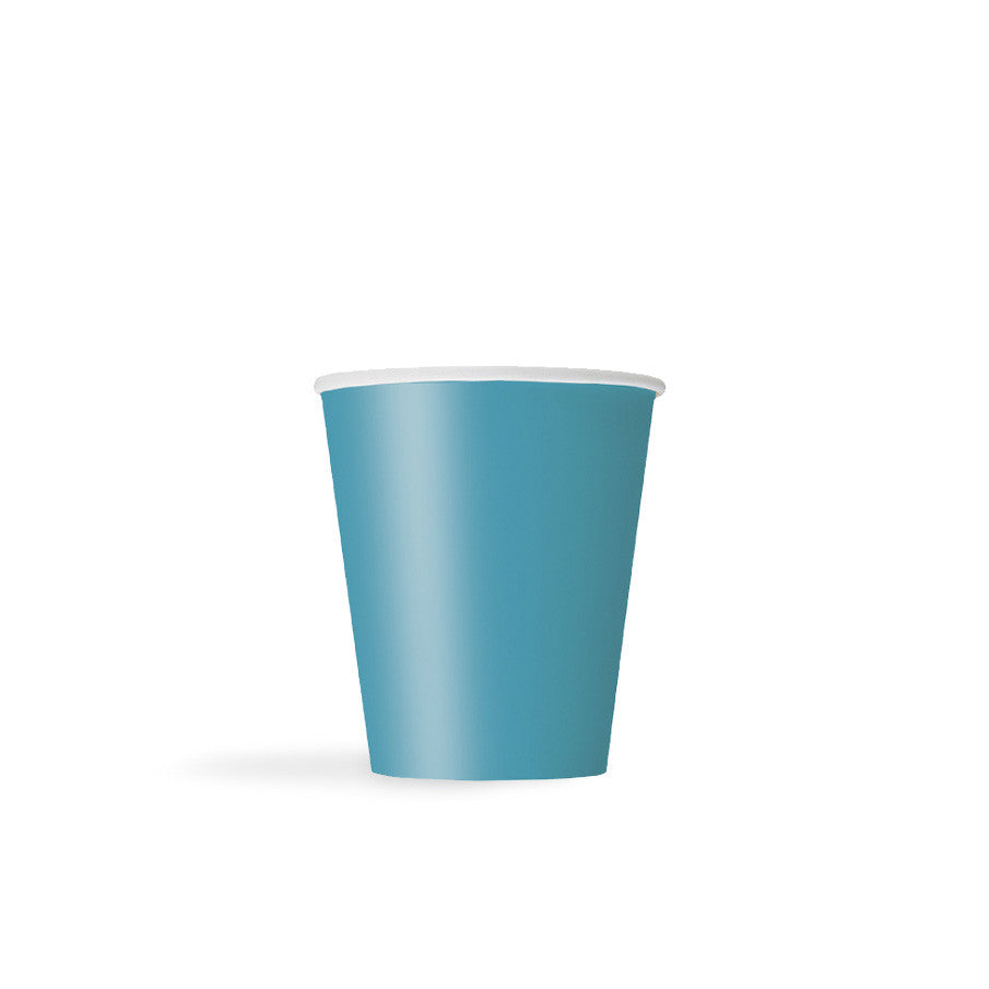 Caribbean Teal Paper Cups - Hello Party - All you need to make your party perfect!