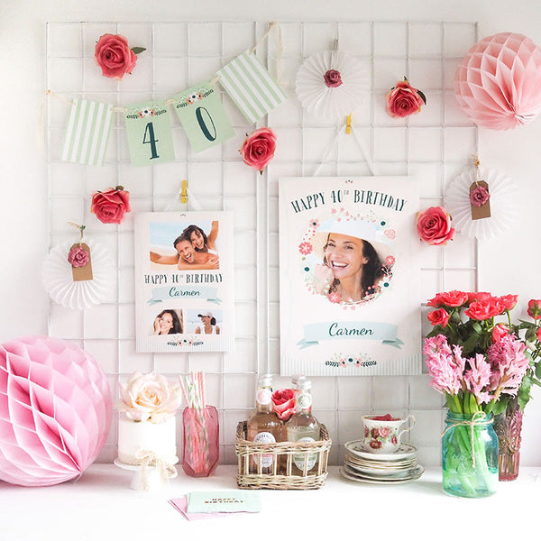 Vintage Blooms Party Collection