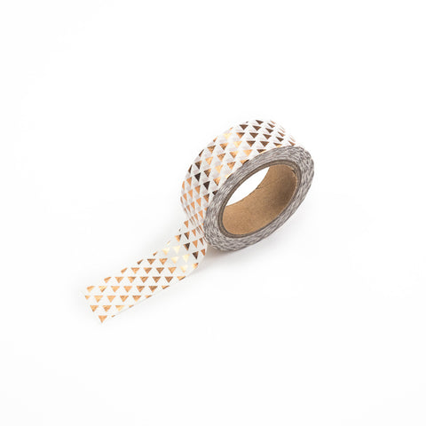 Rose Gold Triangles Washi Tape