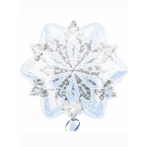 "White Christmas Snowflake Foil Balloon (18"")"