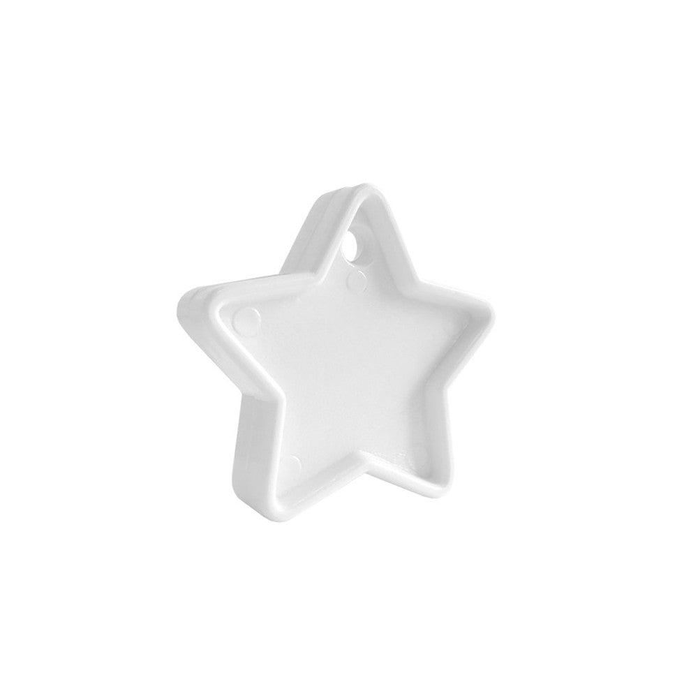 White 40g Star Plastic Balloon Weight