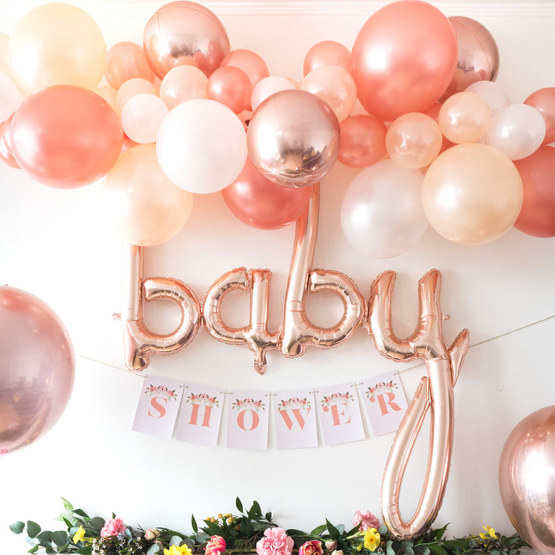 "Mini Rose Gold Mirror Orb Balloon (7"")  mini orb balloon Hello Party Essentials - Hello Party"