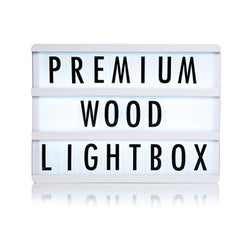 Premium White Wooden A4 Lightbox  Lights Ginger Snap - Hello Party