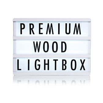 Premium White Wooden A4 Lightbox