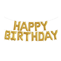 Gold Happy Birthday Foil Balloon Kit