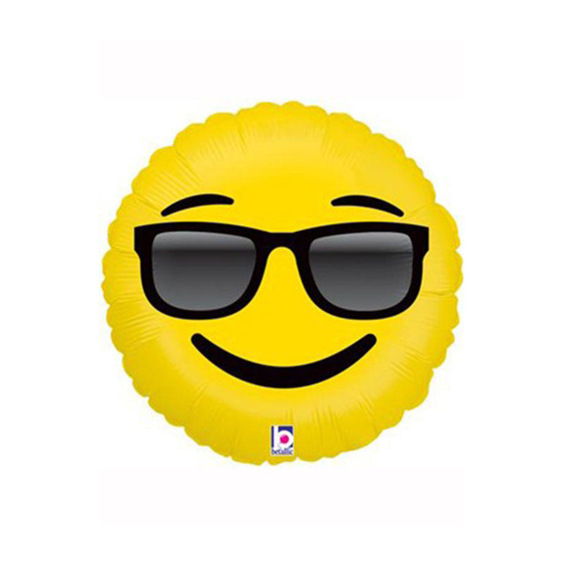 "Cool Sunglasses Emoji 18"" Foil Balloon  Balloons Hello Party - All you need to make your party perfect! - Hello Party"