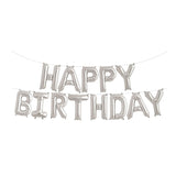 Silver Happy Birthday Foil Balloon Kit