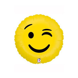 "Winking Emoji 18"" Foil Balloon  Balloons Hello Party - All you need to make your party perfect! - Hello Party"