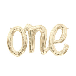 "White Gold One Script Foil Balloon 30""  Balloons Hello Party - All you need to make your party perfect! - Hello Party"