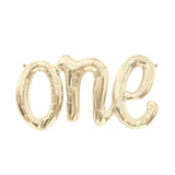"30"" White Gold One Script Foil Balloon - Hello Party - All you need to make your party perfect!"