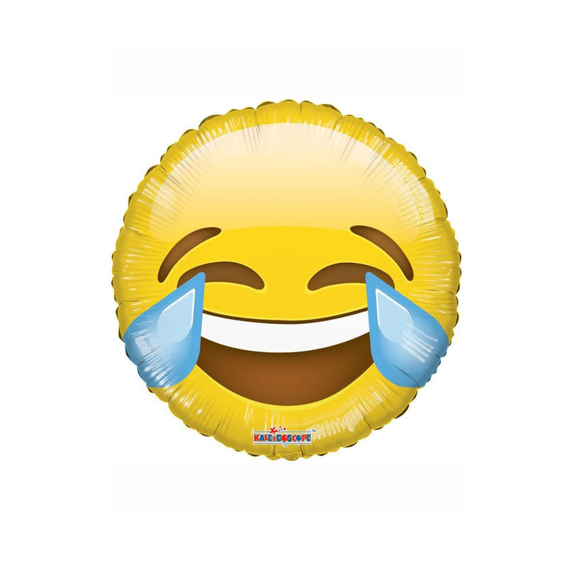 "Smiley Crying Laughing Emoji 18"" Foil Balloon"