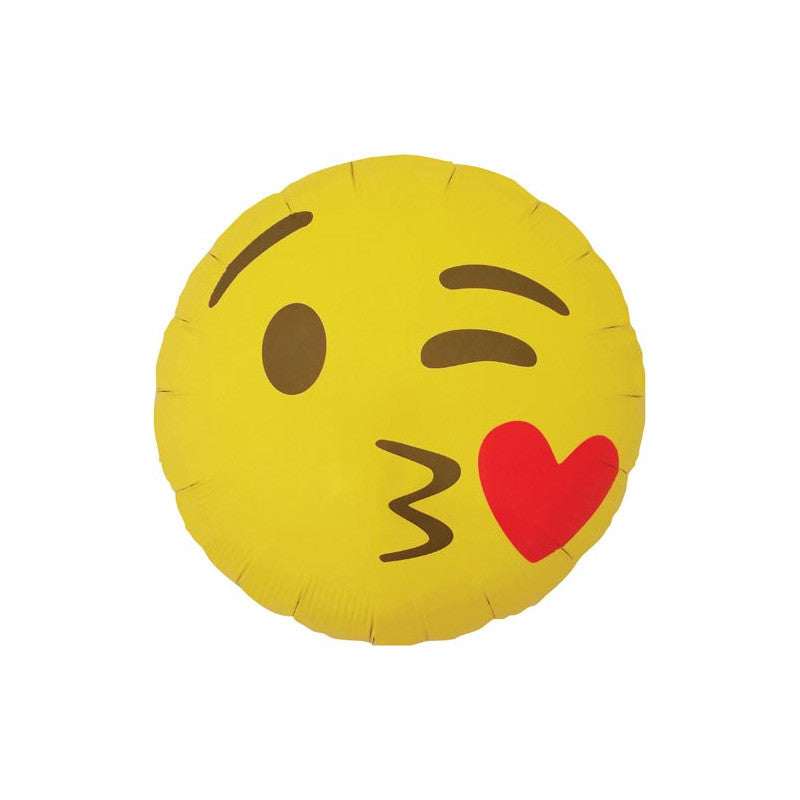 "Kissing Emoji 18"" Foil Balloon  Balloons Hello Party - All you need to make your party perfect! - Hello Party"