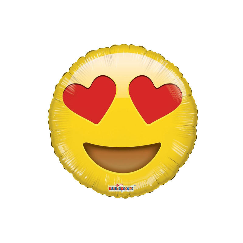 "Smiley In Love Emoji 18"" Foil Balloon  Balloons Hello Party - All you need to make your party perfect! - Hello Party"
