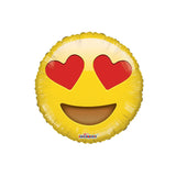 "Smiley In Love Emoji 18"" Foil Balloon"