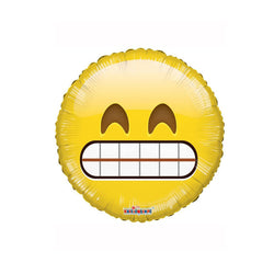 "Big Teeth Smile Emoji 18"" Foil Balloon  Balloons Hello Party - All you need to make your party perfect! - Hello Party"