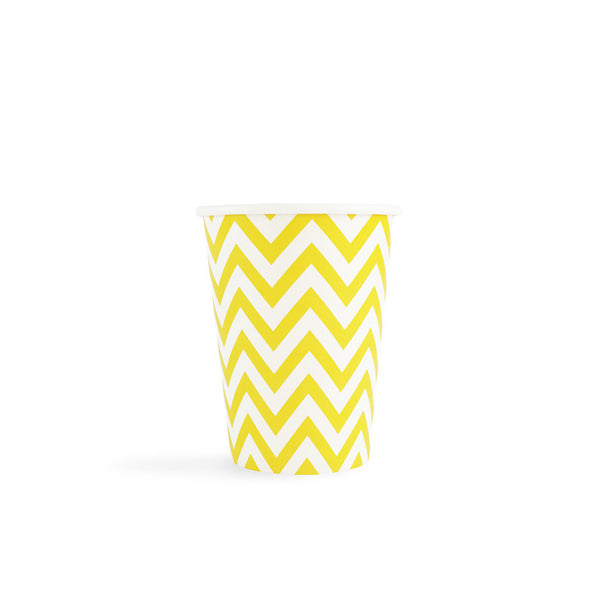 Yellow Chevron Cups  Party Cups Hello Party - All you need to make your party perfect!  - Hello Party
