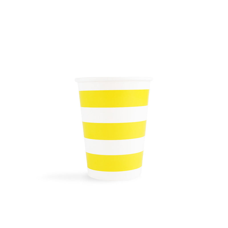Yellow Sailor Stripes Cups  Party Cups Hello Party - All you need to make your party perfect!  - Hello Party