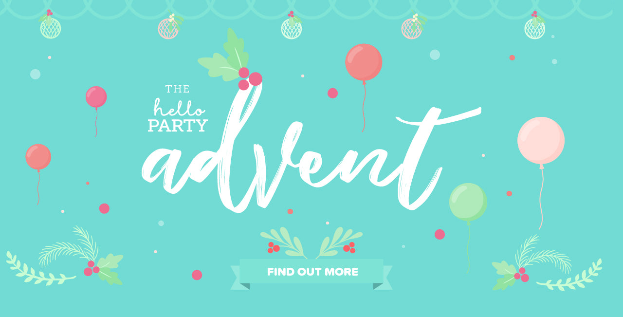 Hello Party Advent Countdown to Christmas Parties