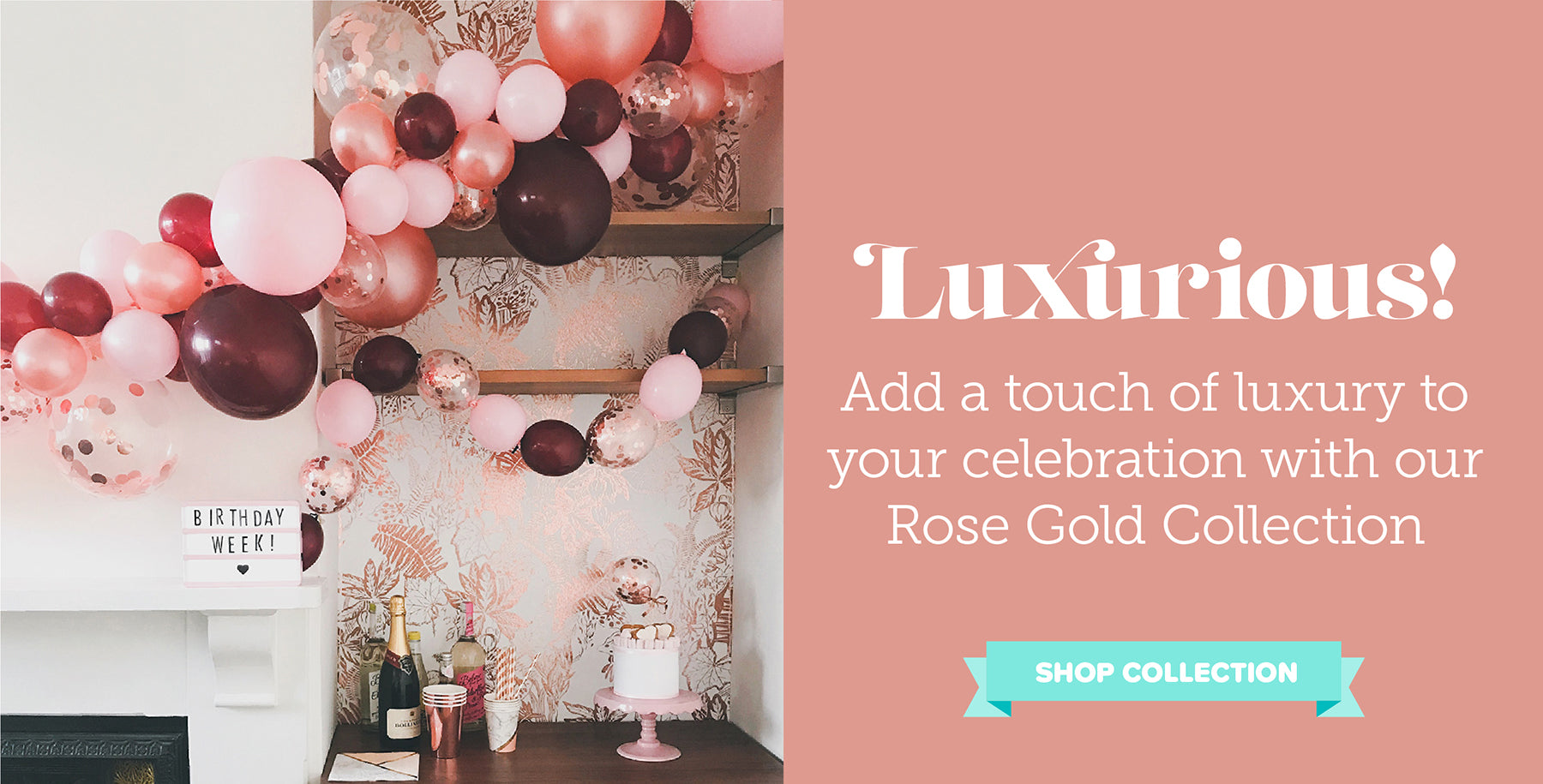 Unique Pretty Stylish Rose Gold Luxury Party Supplies