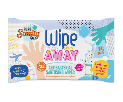 Wipe The Day Away - Antibacterial Sanitising Wipes