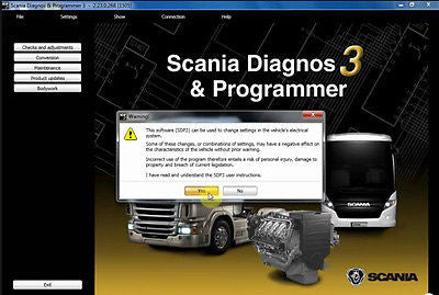V2.39 for Scania VCI 2/3 SDP3 Trucks/Buses